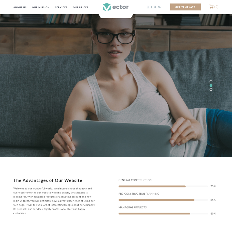 Vector - Business Landing Page Template